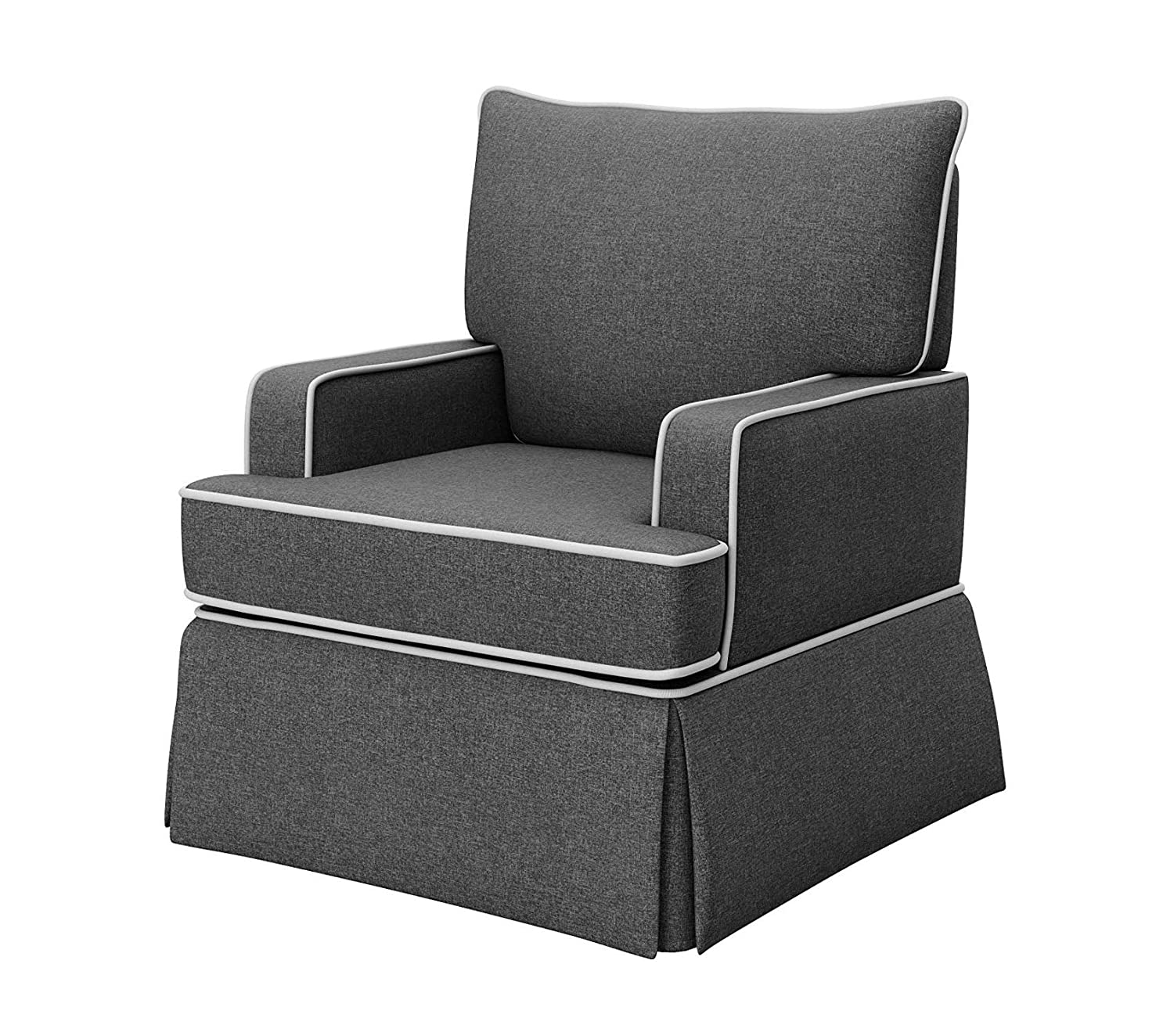 Prime Amazon Com Wood Style Davenport Upholstered Swivel Glider Alphanode Cool Chair Designs And Ideas Alphanodeonline
