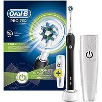Oral-B Pro 750 Cross Action Şarj Edilebilir Diş Fırçası, Siyah