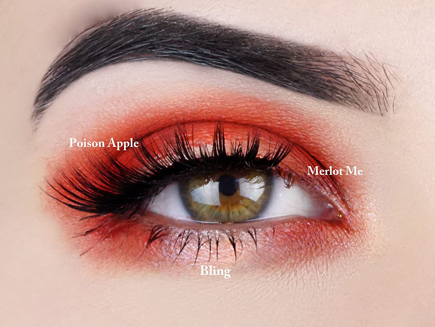 "Amazon.com : Red Eyeshadow Palette | All Natural Mineral Makeup | Vegan, Cruelty Free Cosmetics | Get this Look Trio ""HAVANA NIGHTS"" 