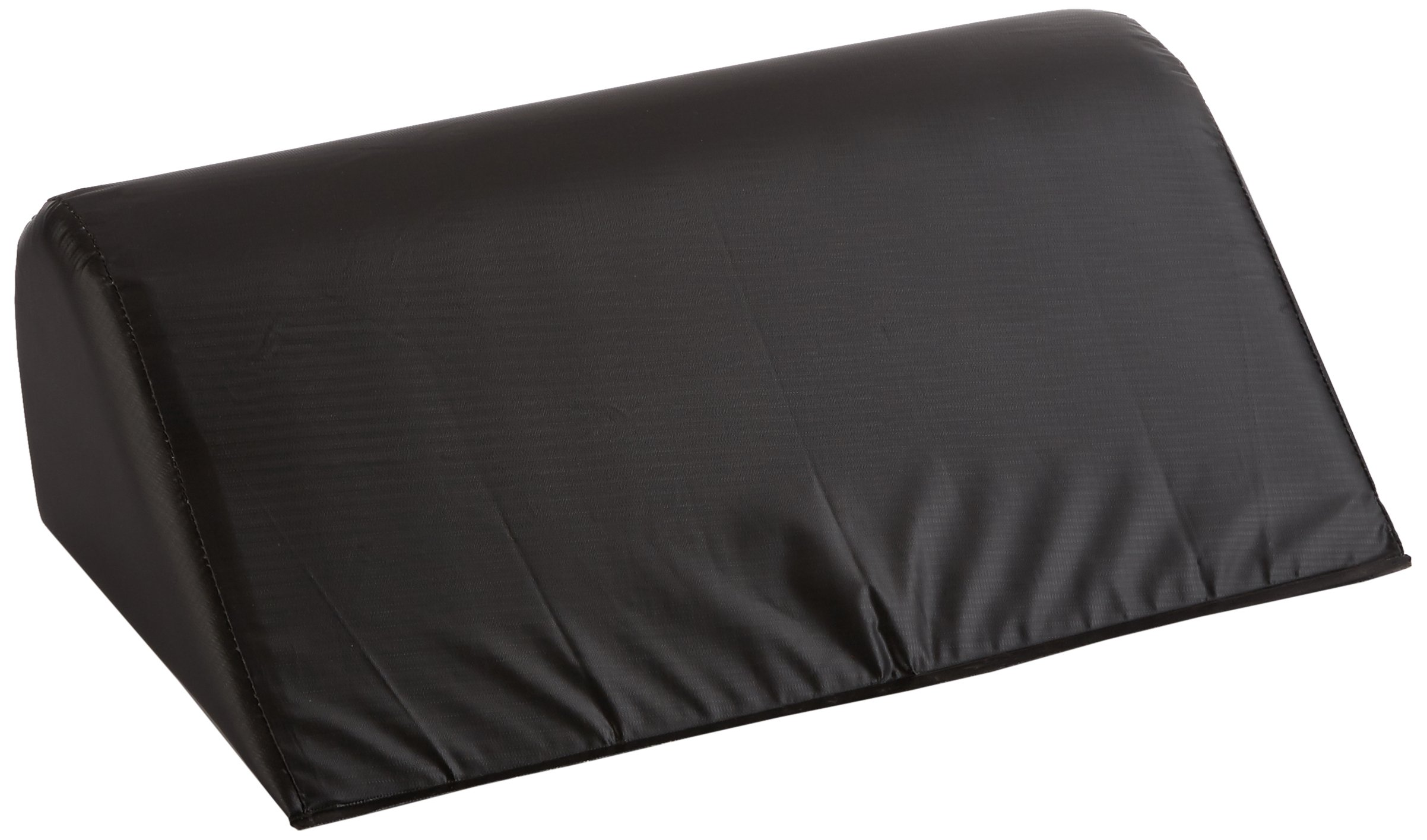 "Sammons Preston Angular 40º Therapy Bolster, Black Wedge Bolster with Foam Padding & Heavy Duty Vinyl Cover for Trunk Positioning, Padded Cushion for Physical Therapy, 7""H x 21""L x 12""W"