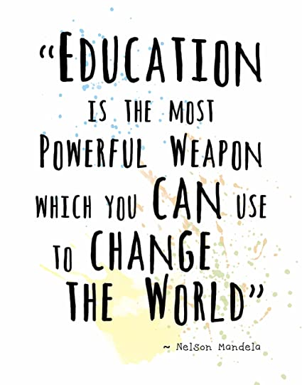 Quote About Education Interesting Amazon Wall Art Prints By ArtDash Nelson Mandela Famous