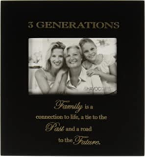infusion gifts 3000 lb three generations engraved photo frames large black