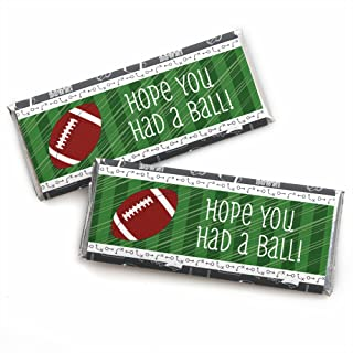 product image for End Zone - Football - Candy Bar Wrappers Baby Shower or Birthday Party Favors - Set of 24