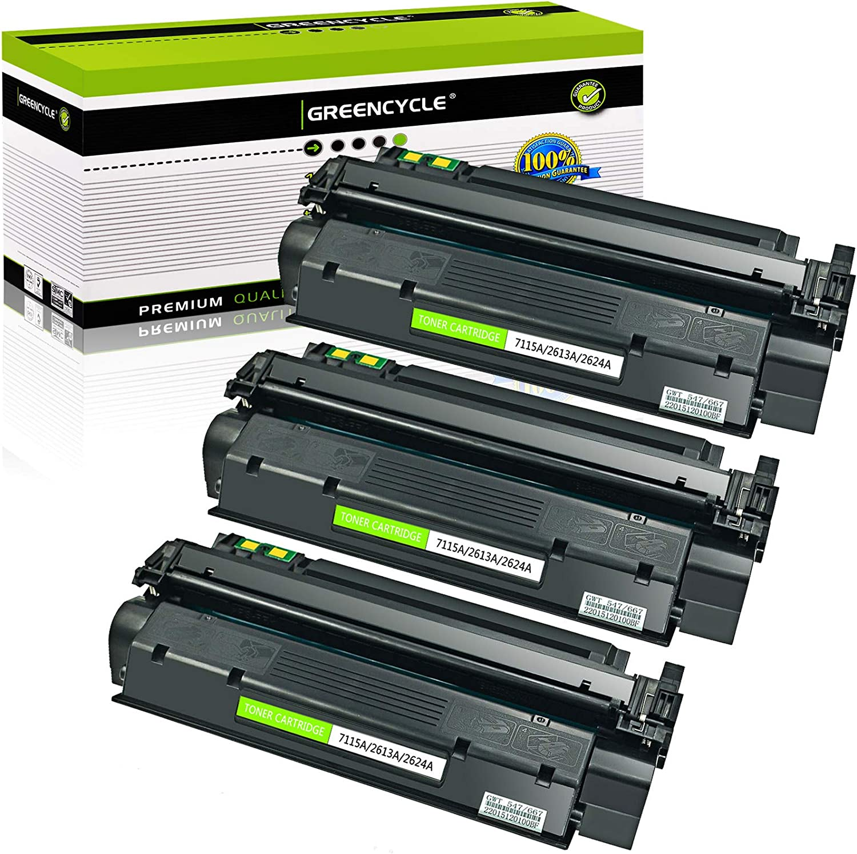 GREENCYCLE 3-Pack Black Toner Cartridge Replacement Compatible for HP 13A Q2613A LaserJet 1300 LaserJet 1300n LaserJet 1300t LaserJet 1300xi Printer