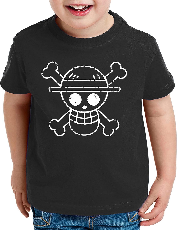 Logo Bruch Zoro One Manga T-Shirt Luffy pour Enfants Anime Piece