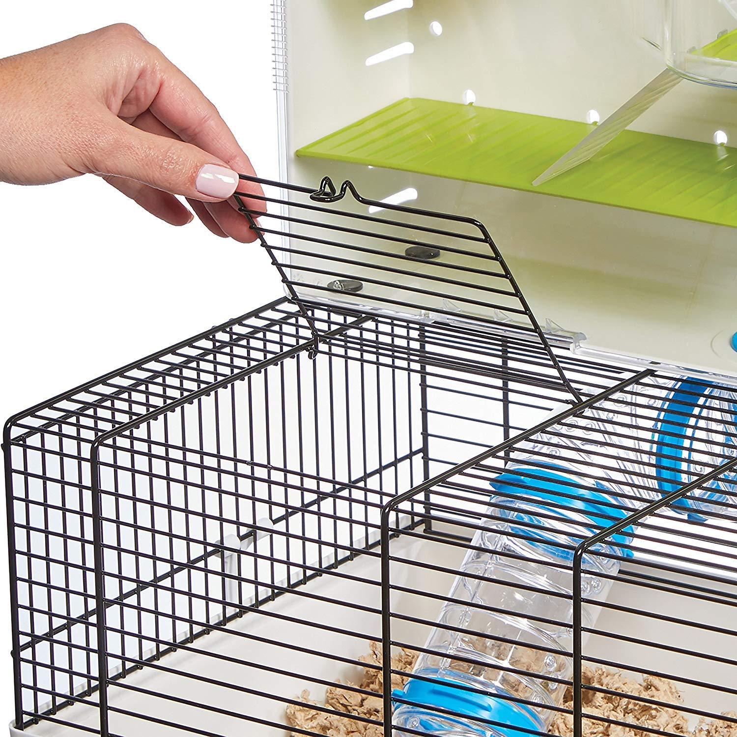 MidWest Homes for Pets Hamster Cage | Awesome Arcade Hamster Home | 18.11'' x 11.61'' x 21.26'' by MidWest Homes for Pets (Image #3)