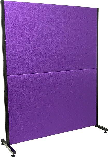 PIQUERAS Y CRESPO Modelo Valdeganga - Biombo separador para oficinas y centros de trabajo, desmontable y con estructura de color negro - Tapizado en tejido BALI color lila: Amazon.es: Oficina y papelería