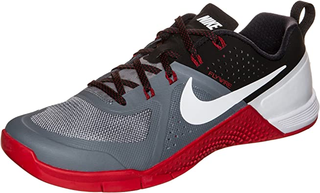Morbosidad Celda de poder principal  Amazon.com | Nike Metcon 1 Mens Trainers 704688 Sneakers Shoes (US 7, Cool  Grey White Black University red 016) | Fitness & Cross-Training