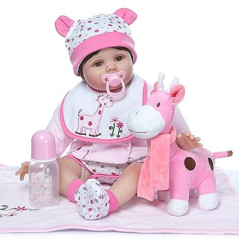 Amazon.es: ZIYIUI 22 Pulgadas Lifelike Reborn Muñecas de bebé Reales ...