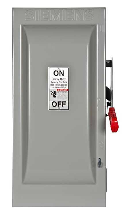 Siemens HF223N 100-Amp 2 Pole 240-volt 3 Wire Fused Heavy Duty ...