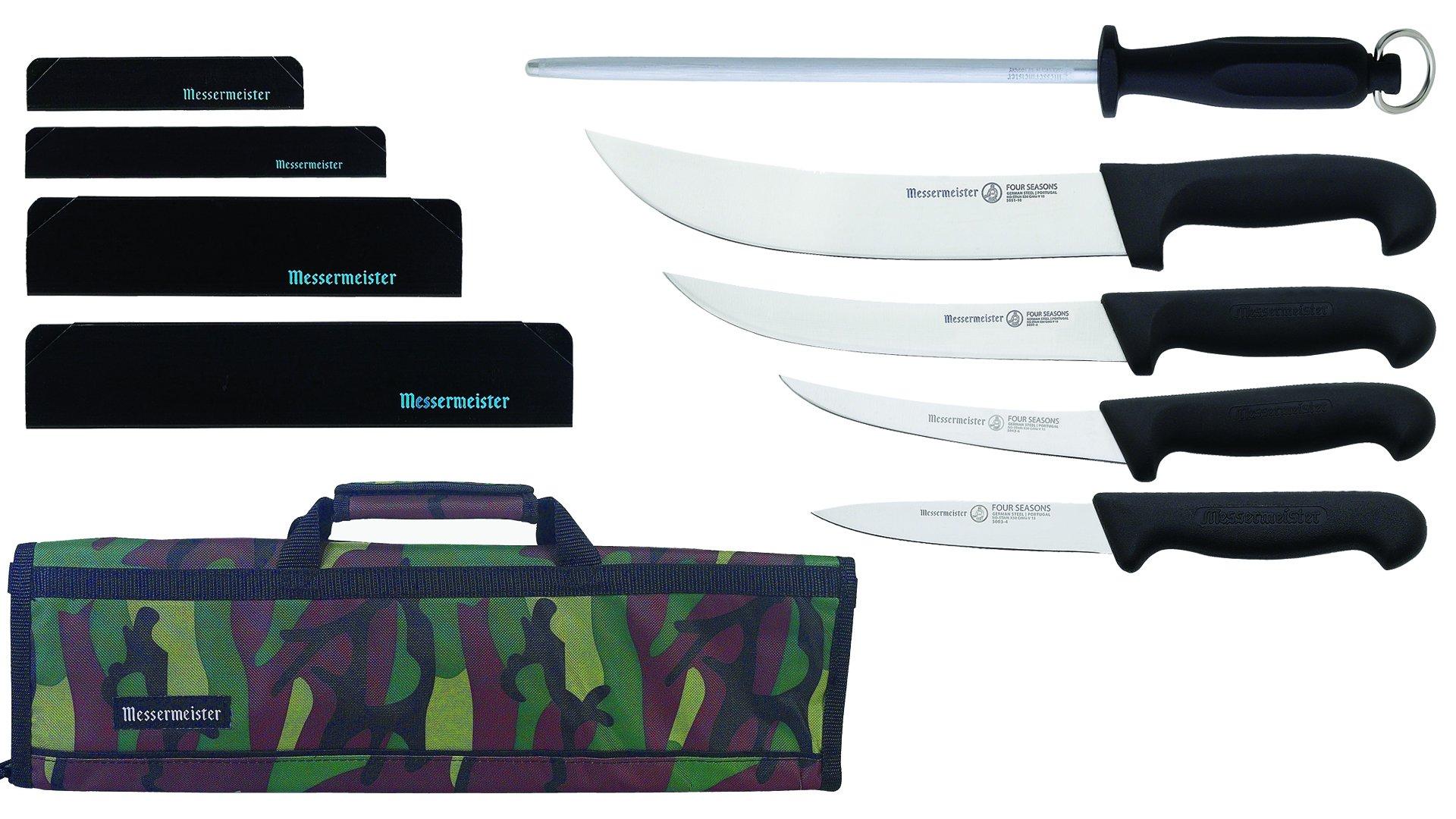 Messermeister Field Dressing Kit in 8-Pocket Knife Roll, Camouflage