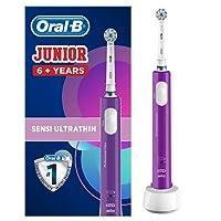 Oral-B Junior - Cepillo eléctrico recargable para niños a partir de 6años, color morado