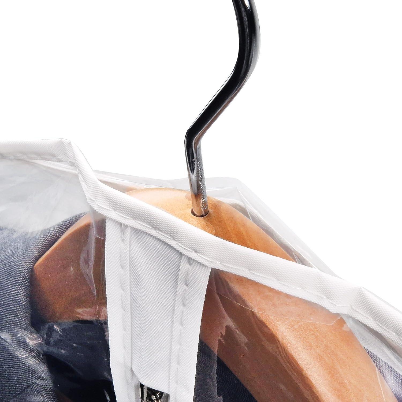 Hangerworld 12 Wasserabweisende Kleidersäcke 100cm Kleiderhülle Transparent mit mit mit weißem Saum B001AGEOF0 Kleiderscke 7c9d01