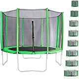 Miganeo® Ersatznetz Größen 183 bis 488cm, Frabe hellgrün, für Trampolin Sicherheitsnetz (305cm)