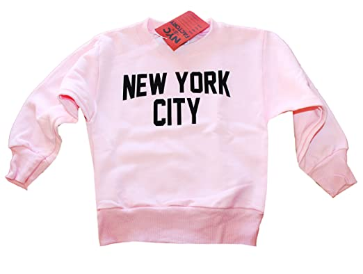 Amazon.com: New York City Youth shirt Screenprinted Pink Girls ...