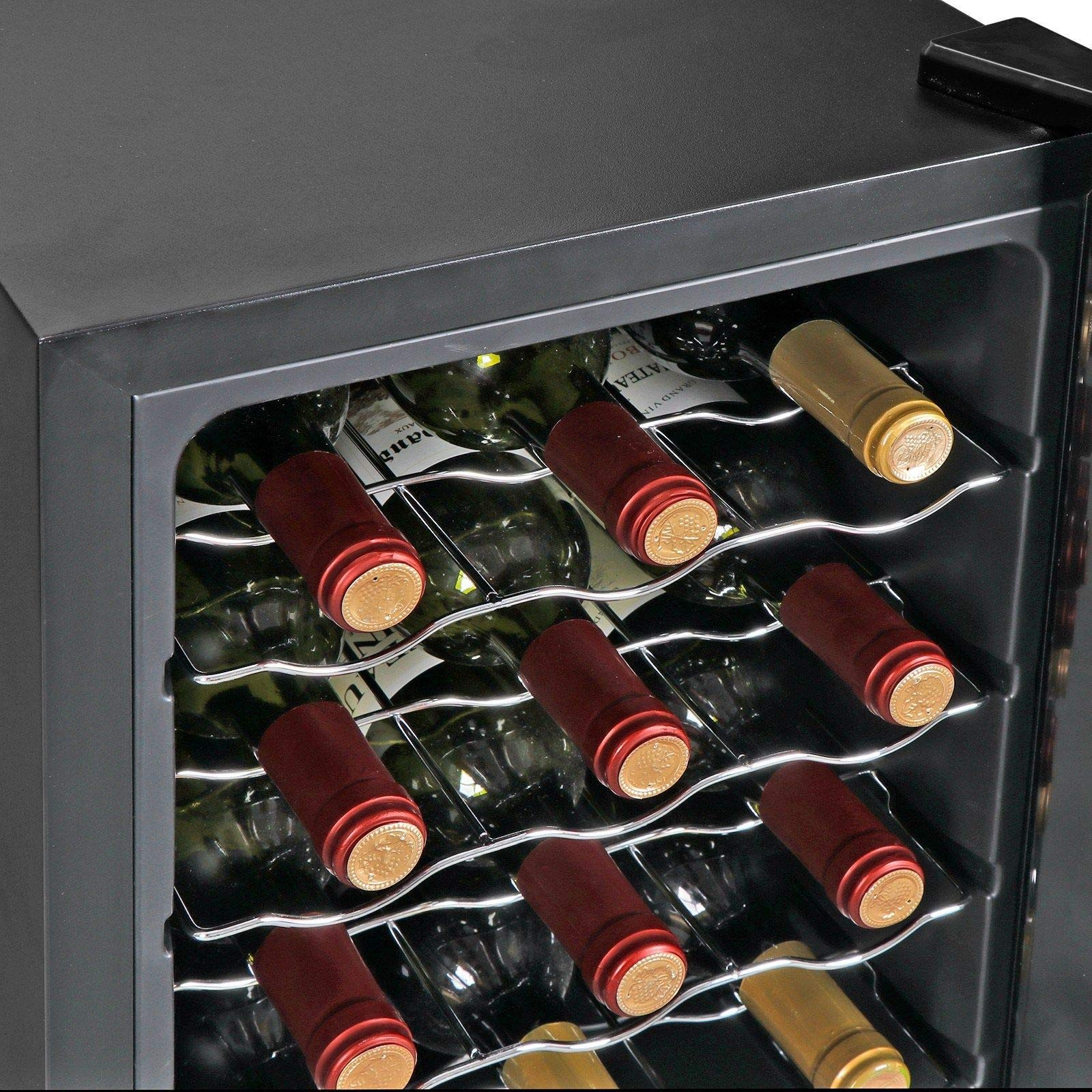 AK Energy 18 Bottles Wine Cooler Refrigerator Air-tight Seal Quiet 50-64 F Temperature Control by AK Energy (Image #9)