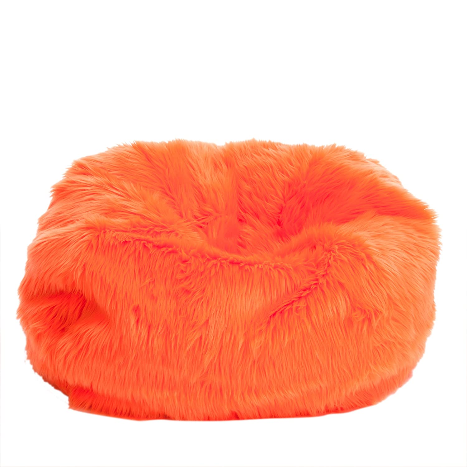 Amazon.com: Le Pouf Fur Bean Bag for Children, Neon Orange: Kitchen & Dining - Amazon.com: Le Pouf Fur Bean Bag For Children, Neon Orange