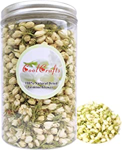 CoolCrafts Dried Jasmine Flowers Culinary Jasmine Buds Dried Flowers for Tea, Baking, Crafting - 2 OZ