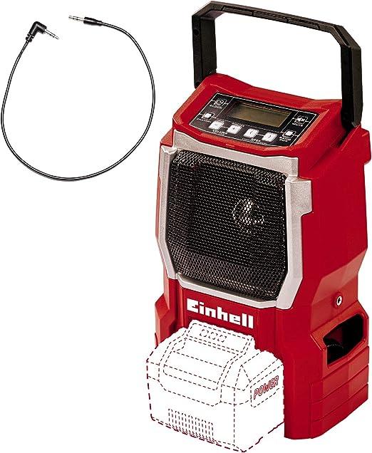 Einhell Akku Radio Te Cr 18 Li Solo 18v 90mm Lautsprecher 10 Senderspeicherplätze Lcd Display Integrierte Antenne Aux Anschluss Ohne Akku Und Ladegerät Baumarkt