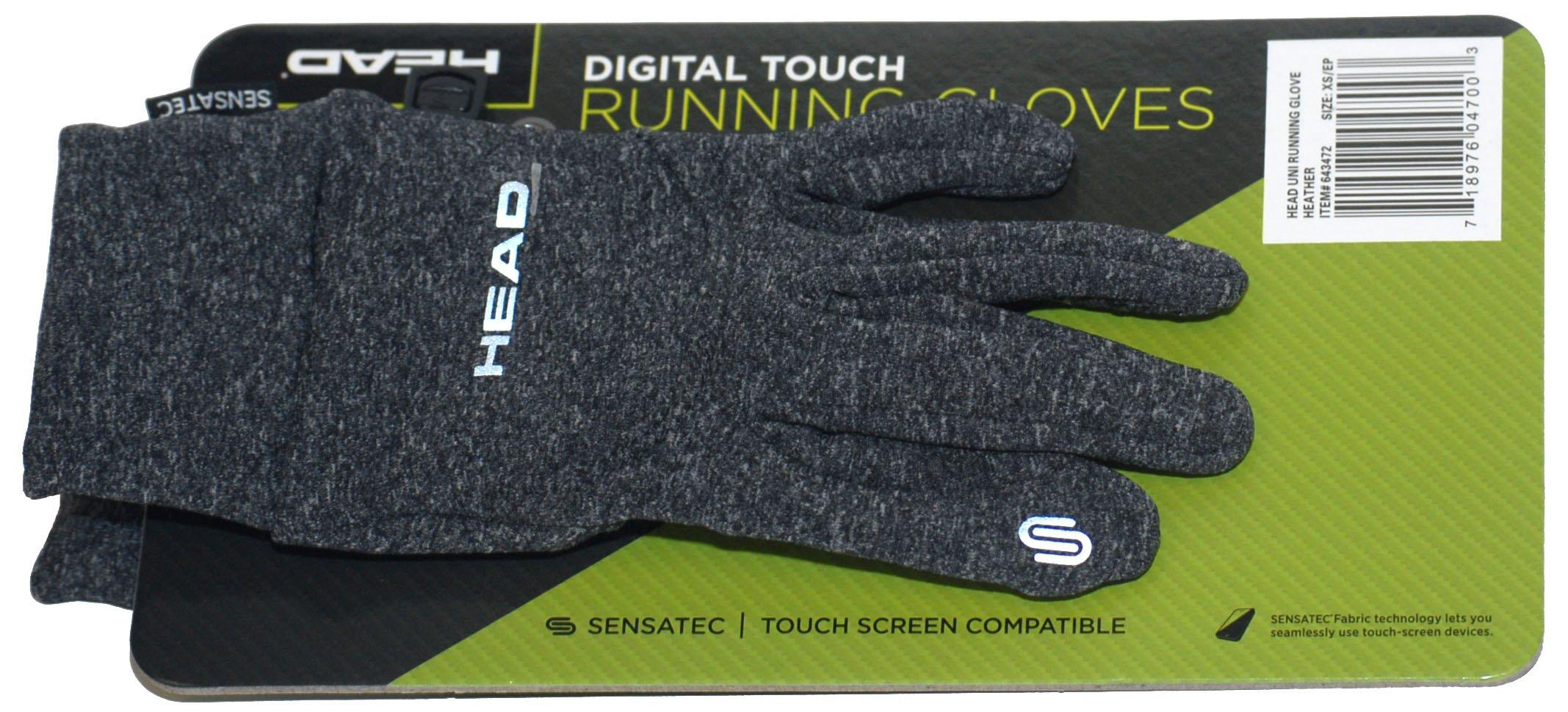 HEAD Multi-Sport Running Gloves with SENSATEC-Heather Grey XS