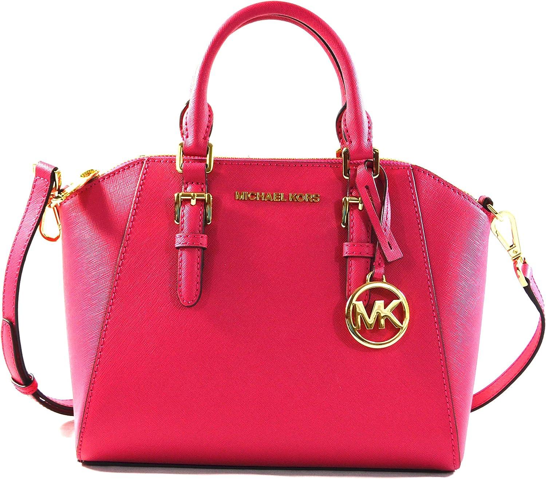 Michael Kors Ciara Medium Saffiano Leather Messenger