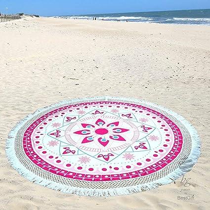 "Toalla de playa redonda grande Círculo Toallas de redondeadas de 190 cm – 74 """