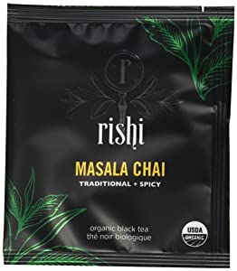 Rishi Tea Organic Masala Chai Tea Bags, 50 Count