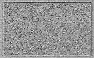 Aqua Shield Carnation Doormat, 2 by 3-Feet, Medium Grey