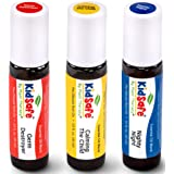 Plant Therapy Top 3 KidSafe Roll-On Set. 100% Pure, Therapeutic Grade Essential Oils Diluted in Coconut Oil. Includes: Germ D