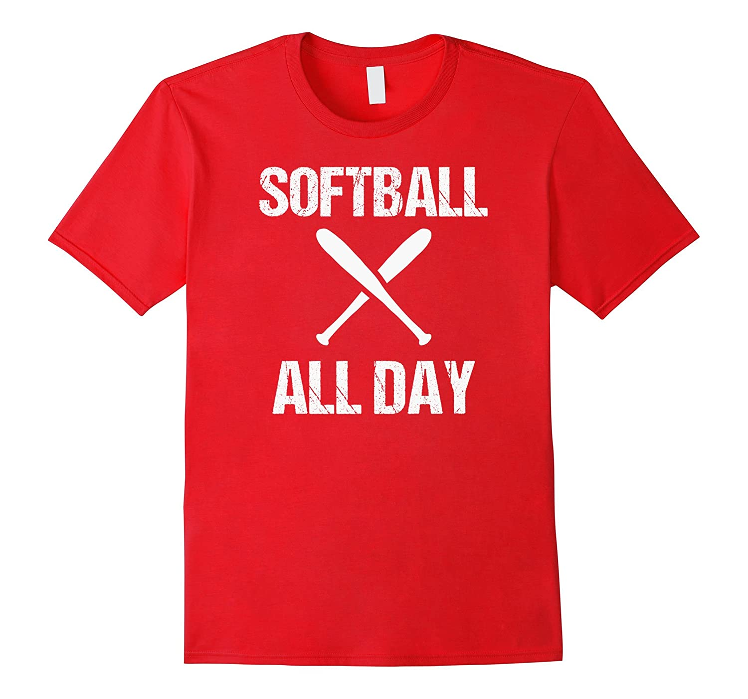 Softball All Day Awesome Cool Saying Athletic Sports T Shirt-TH