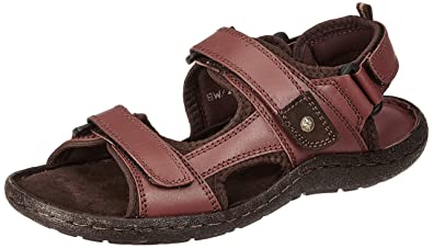 b1679ebd2 Burwood Men s Leather Casual Sandals  Buy Online at Low Prices in ...