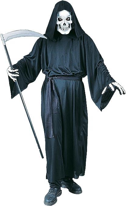 EL CARNAVAL Disfraz túnica Negra Muerte Adulto: Amazon.es ...