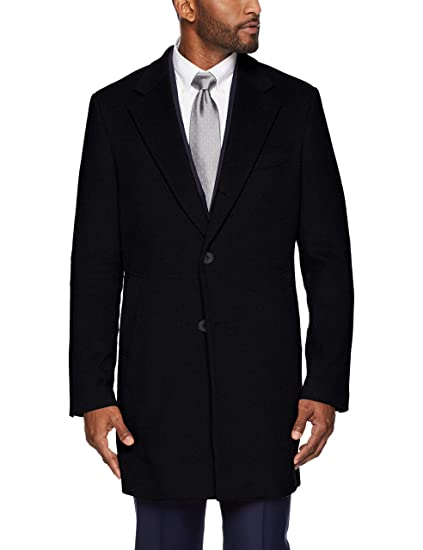 201f81ed Amazon Brand - BUTTONED DOWN Men's Italian Wool Cashmere Overcoat