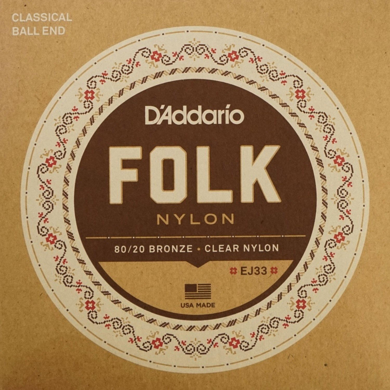 D'Addario ダダリオ ボールエンドナイロン弦 Folk Nylon EJ33 80/20 Bronze/Clear Nylon Trebles 【国内正規品】   B0095FDX5U