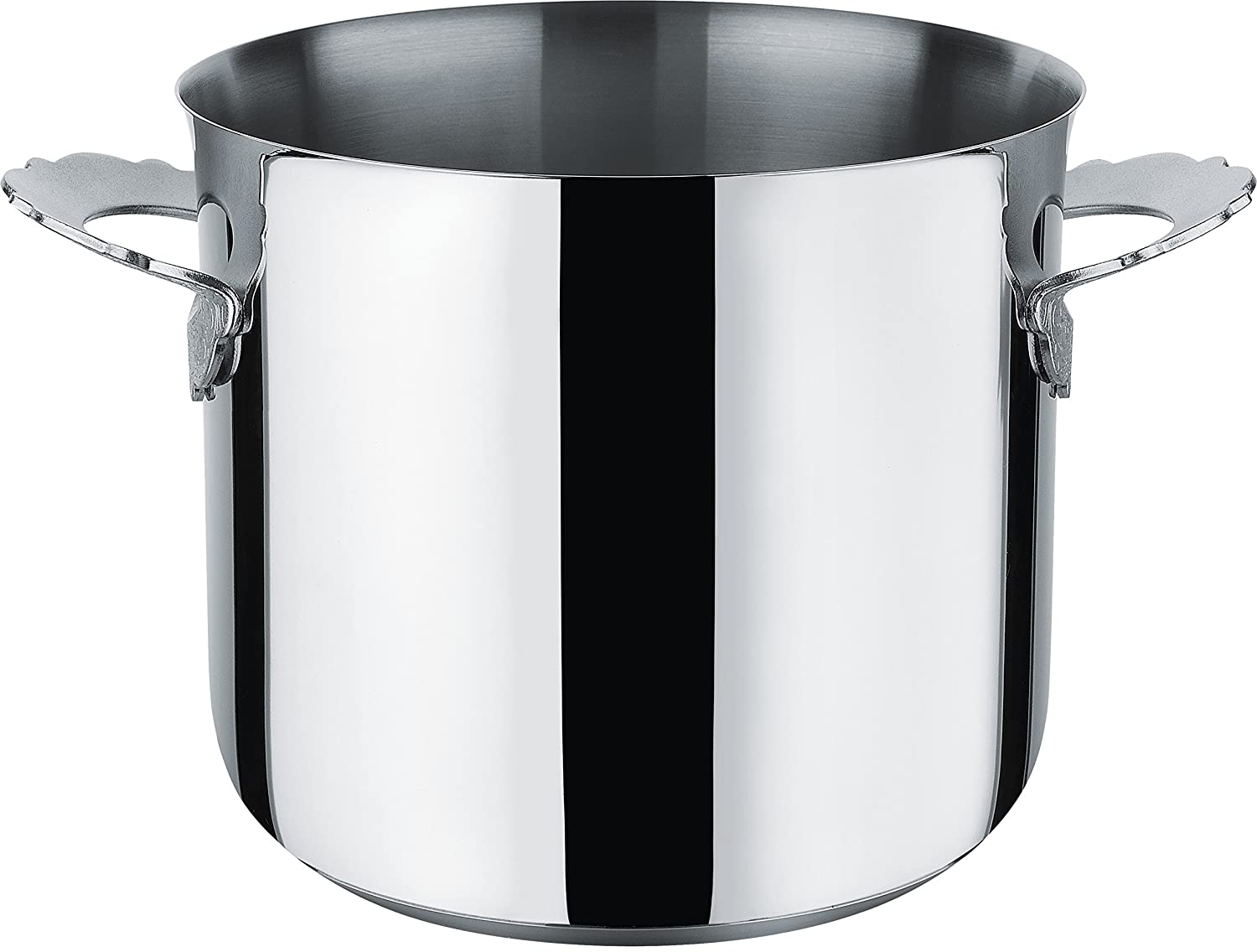 Black Alessi MW100//20Dressed Stockpot in 18//10 Stainless Steel Mirror Polished Magnetic Steel Bottom Suitable For induction Cooking