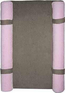 Looping Matelas /à Langer Design avec Housse /Éponge Bicolore D/éhoussable Taupe Rose Litchi