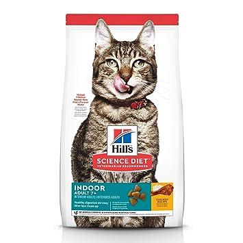 Hills Science Diet Dry Cat Food, Adult 7+ for Senior Cats, Indoor, Chicken Recipe