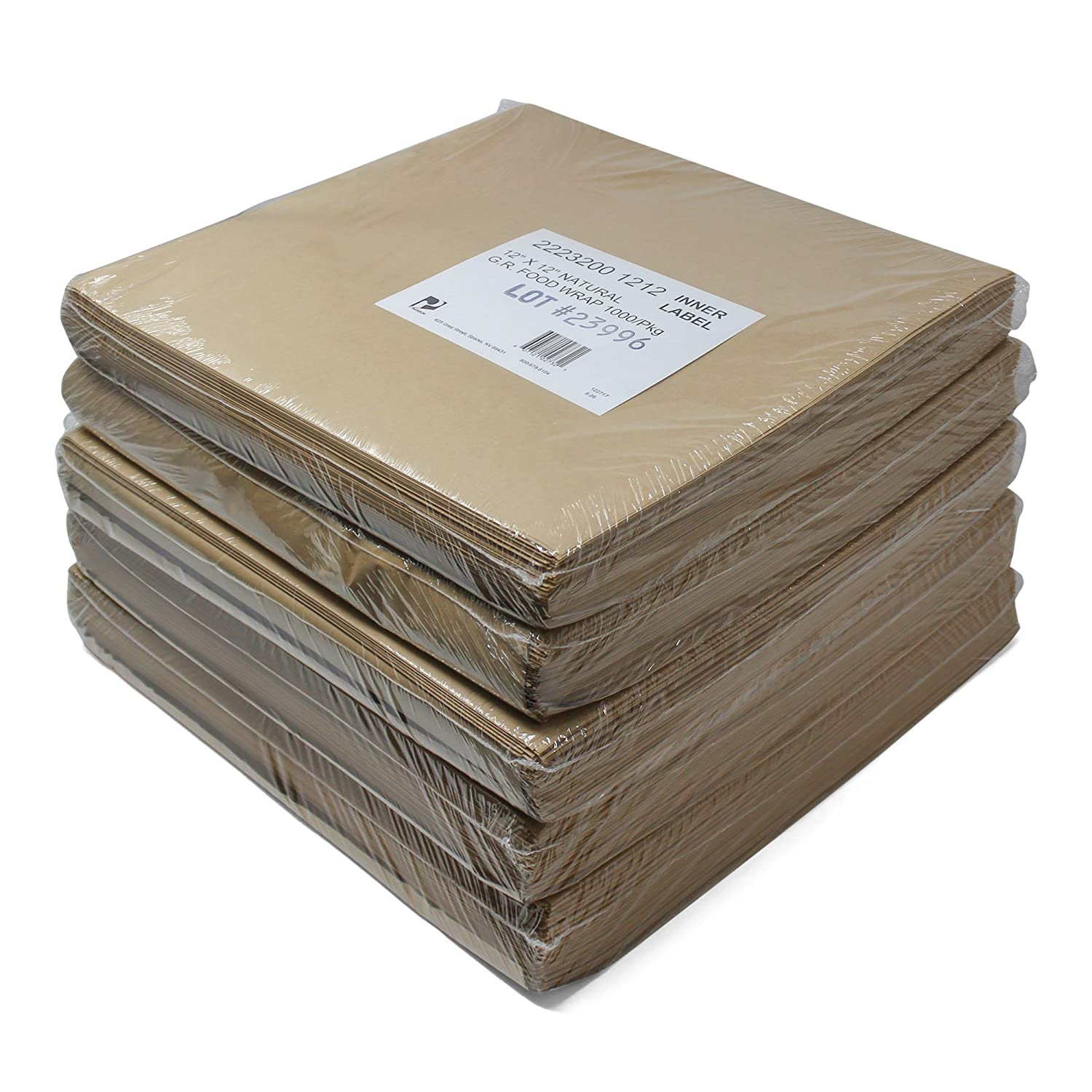 Paterson Paper Sandwich Food Wrapping Paper Deli Sheet Squares (Brown, 12