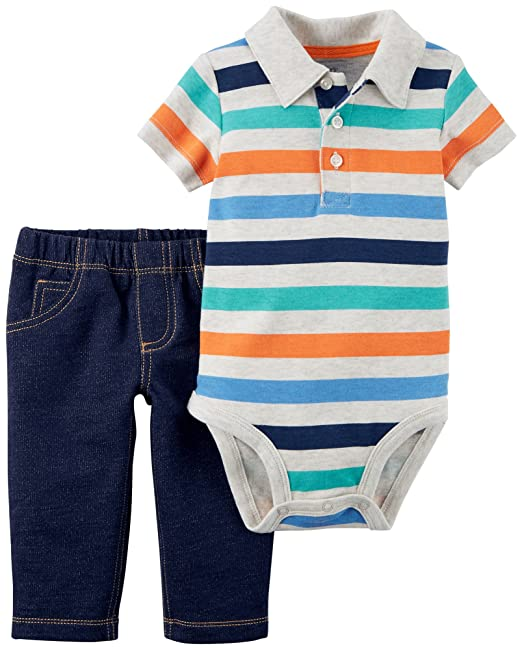 0663ad315 Amazon.com: Carter's Baby Boys' 2 Piece Bodysuit and Pants Set 24 Months:  Clothing
