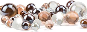 Li Decor Glass Vase Fillers Marbles for Vase Mixed Amber 1.3 Pounds Bottle