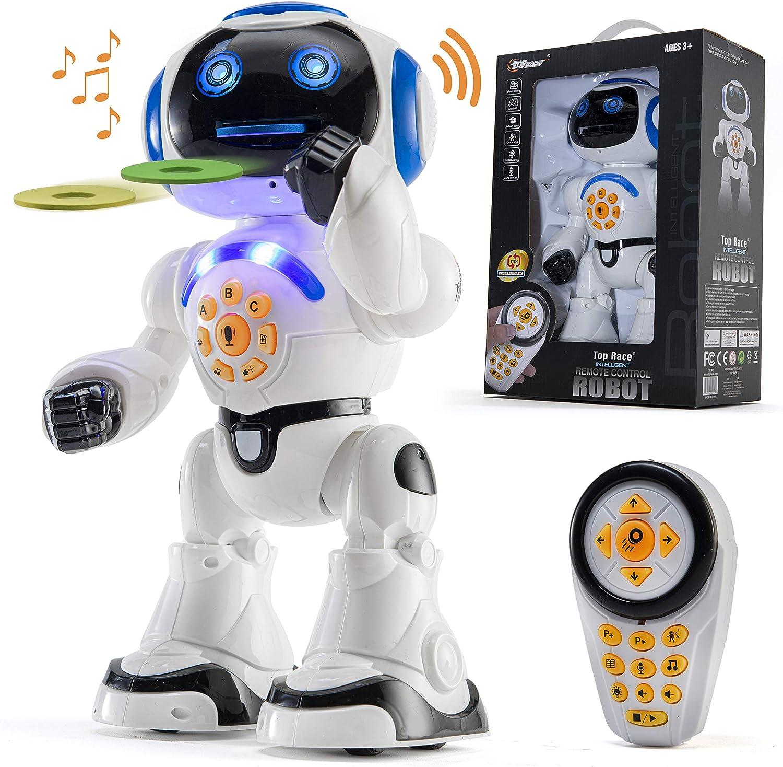 Blau intelligentes Roboterspielzeug f/ür Kinder /über 8 Jahre Kinder ferngesteuertes Roboterspielzeug singendes tanzendes Lernspielzeug f/ür Kinder Intelligentes Rc-Roboterspielzeug