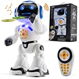 Top Race Remote Control Robot Toy Walking Talking Dancing Toy Robots for Kids, Sings, Reads Stories, Math Quiz, Shoots…