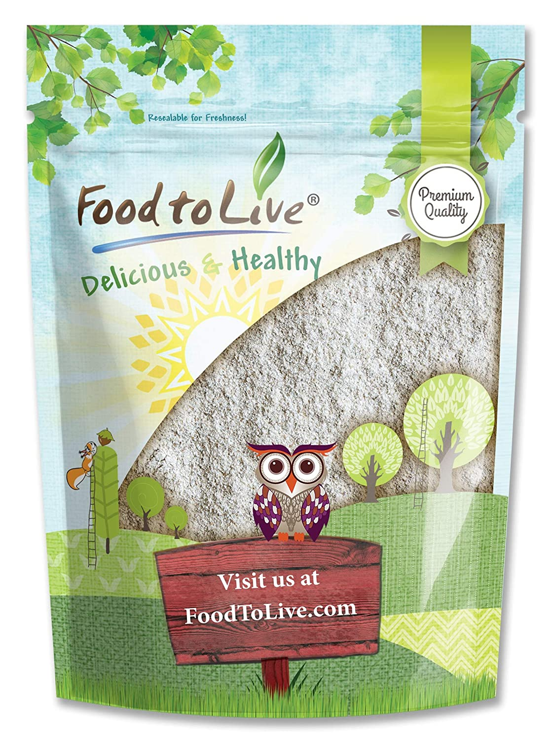 Rye Flour, 1 Pound - Stone Ground from Whole Grain Rye Berries, Kosher, Vegan, Bulk, Great for Bread Baking, Product of the USA