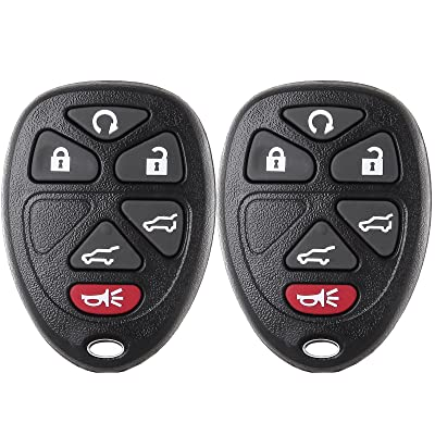 ECCPP Keyless Entry Remote Key Fob 6 Buttons Replacement fit for Cadillac Escalade/Chevrolet Suburban 1500 2500 Tahoe/GMC Yukon XL 1500 2500 OUC60270 (Pack of 2): Automotive