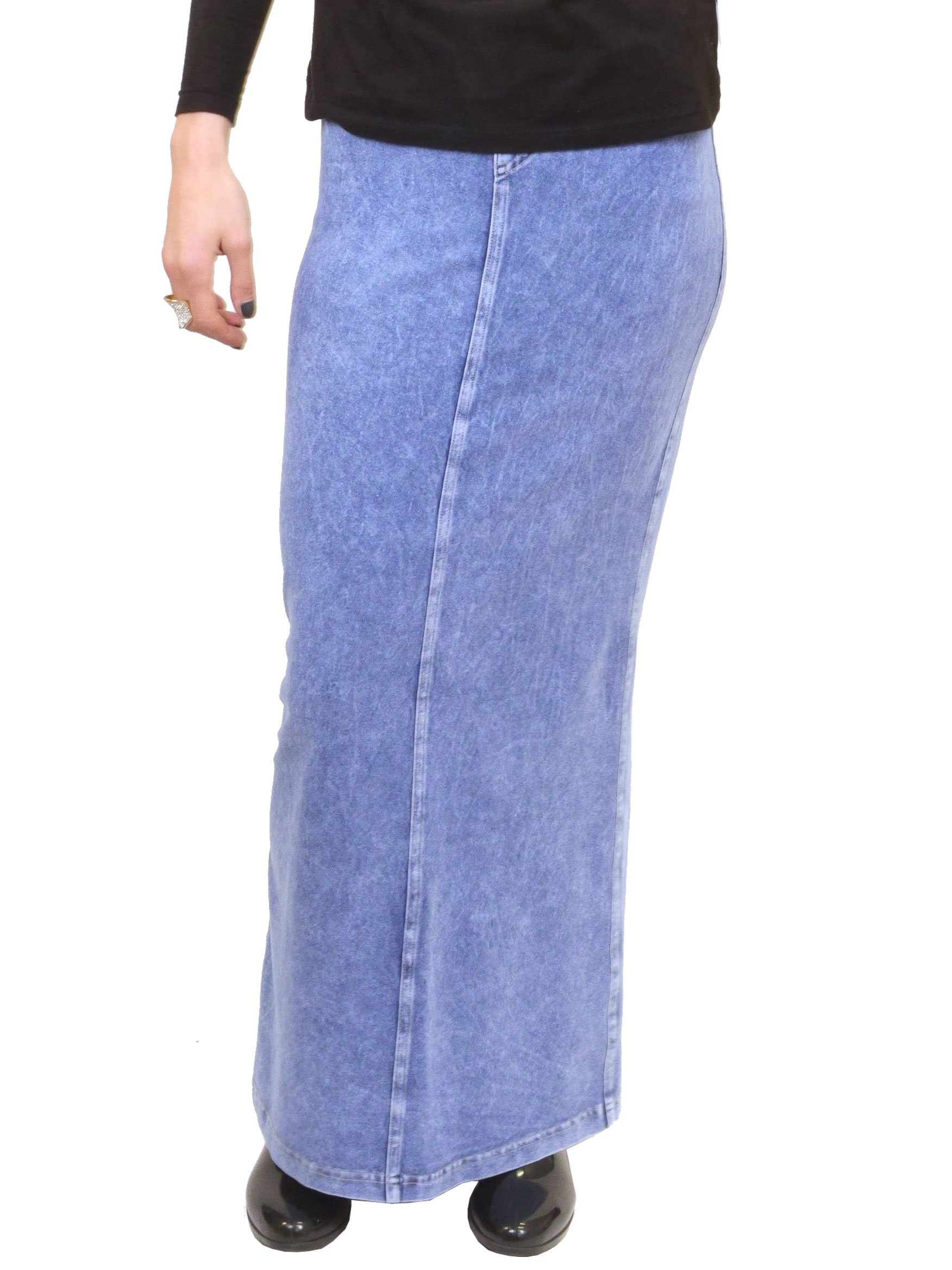Long Denim Skirt (L, Light)