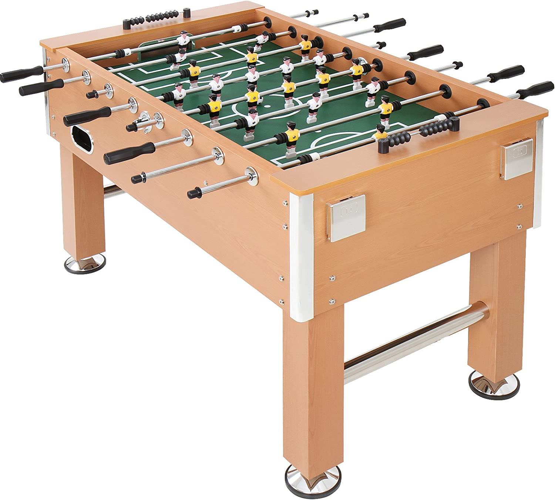 Jago - Futbolín de madera y altura regulable – color madera: Amazon.es: Juguetes y juegos