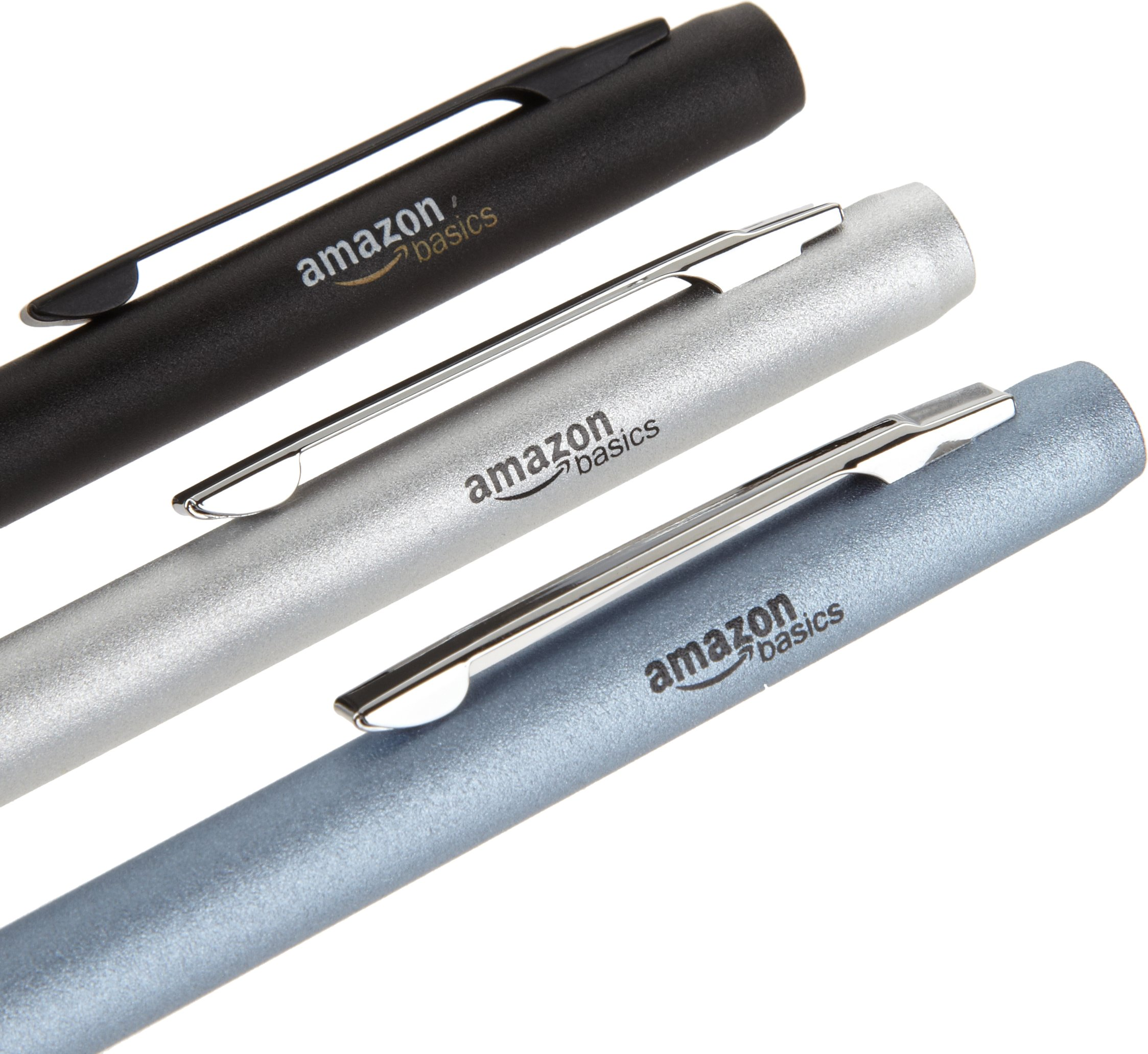 AmazonBasics 3-Pack Executive Stylus for Touchscreen Devices (Black, Silver, Blue) by AmazonBasics (Image #3)
