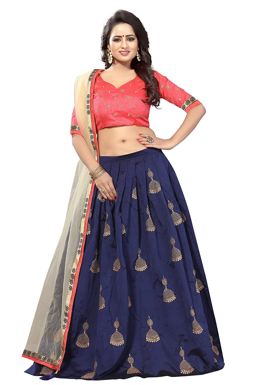 Buy Prasha fashion Embroidered Semi Stitched Lehenga Choli