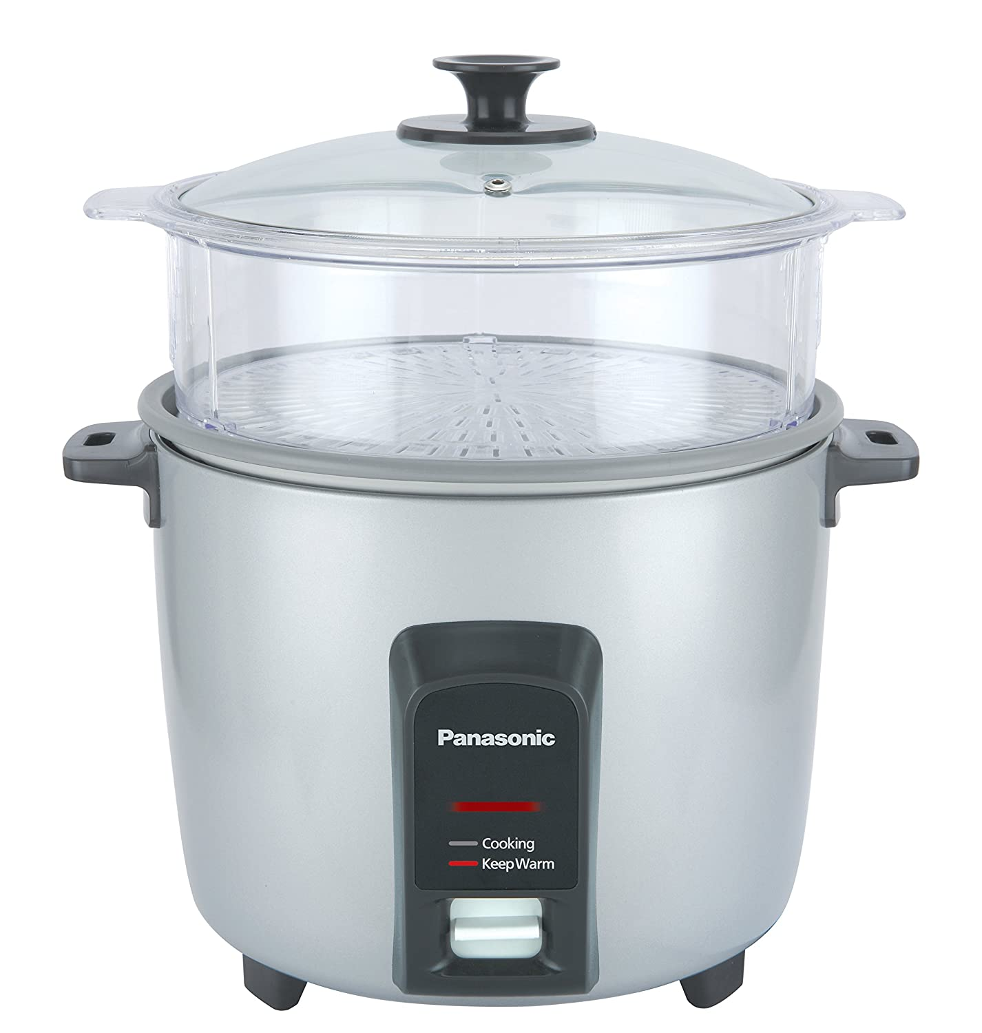 Automatic Rice Cooker//Steamer Silver Panasonic 12 Cup Uncooked
