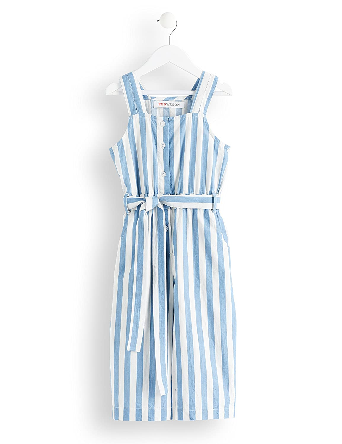 RED WAGON Girls Chambray Waist Tie Playsuit